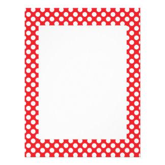 White and Red Polka Dot Letterhead