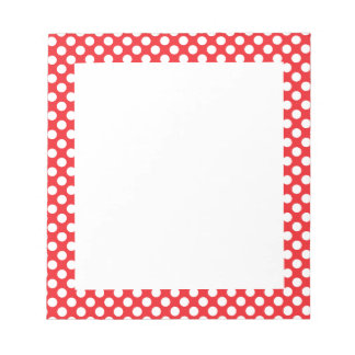 White and Red Polka Dot Notepad