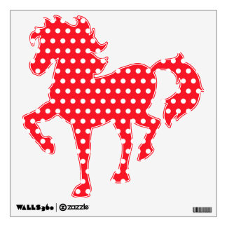 White and Red Polka Dot Pattern. Spotty. Wall Sticker