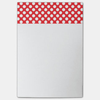 White and Red Polka Dot Post-it® Notes