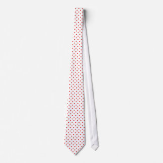 White and Red Polka Dot Tie