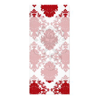 white and red romance damask design rack cards