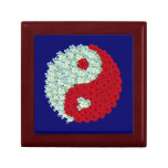 White and Red Roses Yin Yang Trinket Boxes