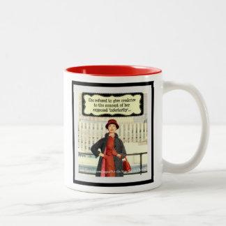White and Red 'She Refused' Mug