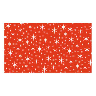 White and Red Star Pattern. Business Card Templates
