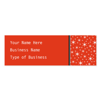 White and Red Star Pattern. Business Cards
