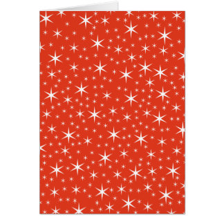 White and Red Star Pattern. Cards