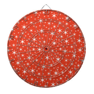 White and Red Star Pattern. Dartboards