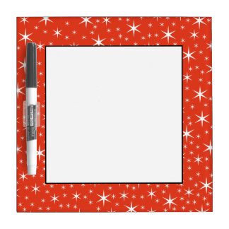 White and Red Star Pattern. Dry-Erase Whiteboards