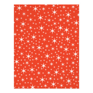 White and Red Star Pattern. Flyer