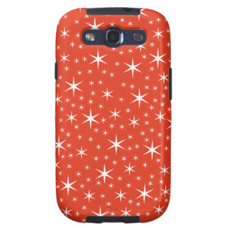 White and Red Star Pattern. Galaxy SIII Case
