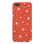 White and Red Star Pattern. iPhone 5 Case