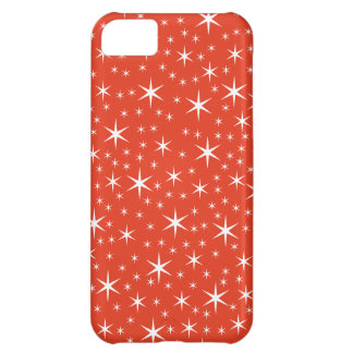 White and Red Star Pattern. iPhone 5C Case