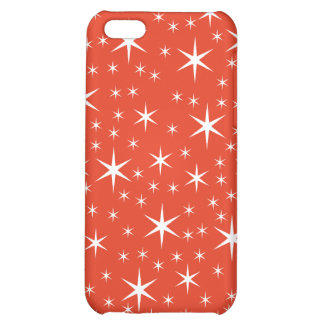 White and Red Star Pattern. iPhone 5C Cases