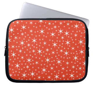 White and Red Star Pattern. Laptop Computer Sleeves