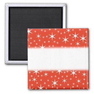 White and Red Star Pattern. Magnets