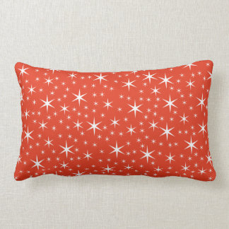 White and Red Star Pattern. Pillows