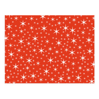 White and Red Star Pattern. Post Cards