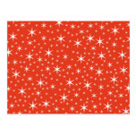 White and Red Star Pattern. Postcard