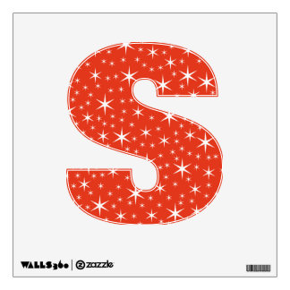 White and Red Star Pattern. Wall Decals