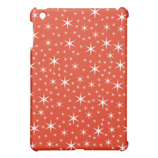 White and Red Star Pern. Cover For The iPad Mini