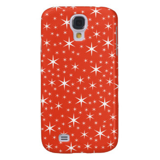 White and Red Star Pern. Samsung Galaxy S4 Cover