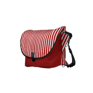 White And Red Stripes Modern Pattern Small Messenger Bag
