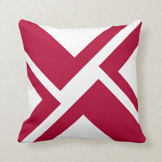 White and Red throw pillow