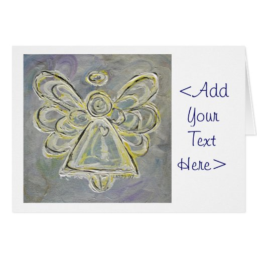 White and Silver Angel Greeting Card or Note Cards