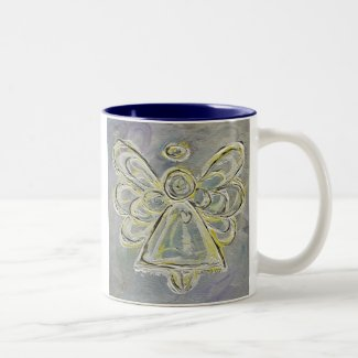 White and Silver Angel Mug or Cup