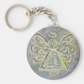 White and Silver Light Guardian Angel Keychain