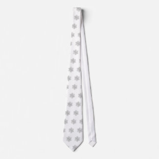 White and Silver Snowflake Necktie