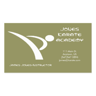 White and Tan Martial Arts Business Card
