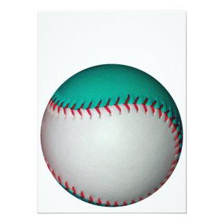 White and Teal Baseball / Softball Card