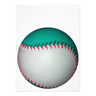 White and Teal Baseball / Softball Personalized Invites