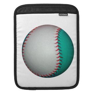 White and Teal Baseball / Softball Sleeves For iPads