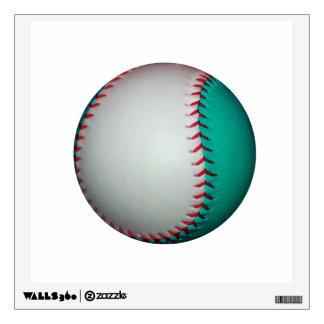 White and Teal Baseball / Softball Wall Decal