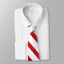 White and Thin Crimson University Stripe Tie