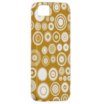 White and Yellow Circles Pattern iPhone 5 Cases