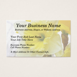 White And Yellow Daffodil Business Card