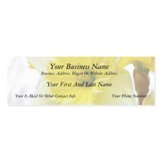 White And Yellow Daffodil Double-Sided Mini Business Cards (Pack Of 20)