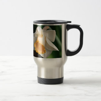 White and Yellow Daffodil Flowers for Floral Lover Travel Mug