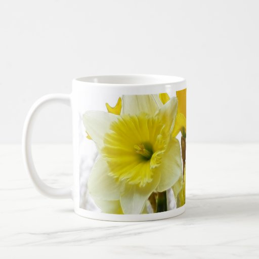 White And Yellow Daffodil Mug