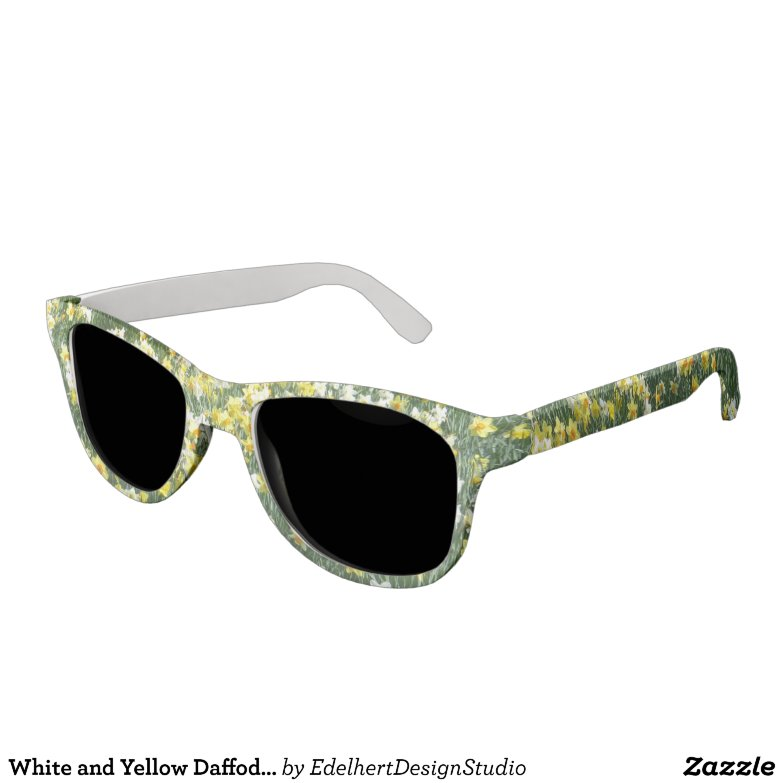 White and Yellow Daffodils Sunglasses