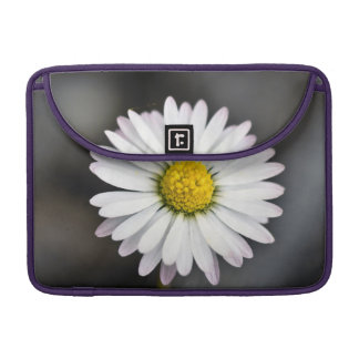 White and yellow daisy sleeve for MacBooks