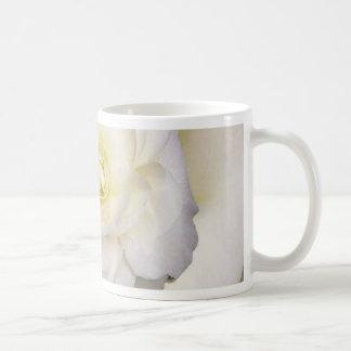 White and yellow flower classic white coffee mug