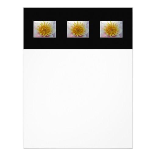 White and Yellow Flower. Custom Letterhead