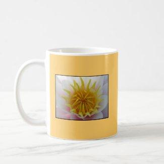 White and Yellow Flower. Mug