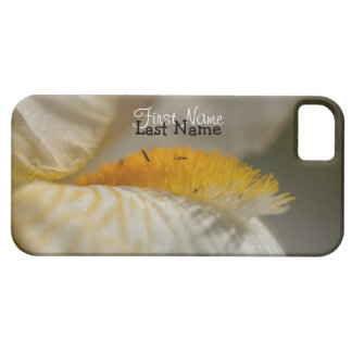 White and Yellow Iris; Customisable iPhone SE/5/5s Case