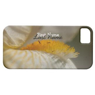 White and Yellow Iris; Customizable iPhone SE/5/5s Case